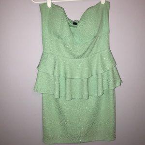 Windsor mint green tight strapless dress